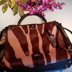 Coach Gramercy calfhair satchel